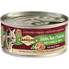 Carnilove Adult Cat Chicken, Duck and Pheasant 100 g  conserva