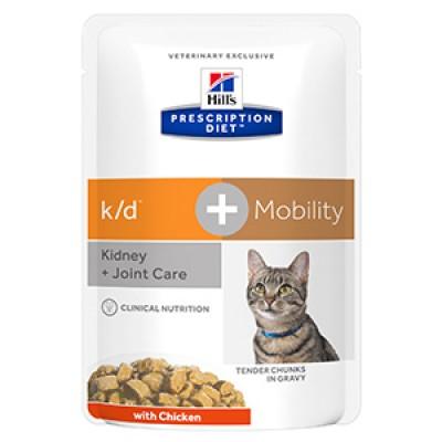 Hills PD Feline K/D plus Mobility 85 gr (plic)