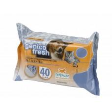 Ferplast servetele caini/pisici genico fresh talc 40 buc
