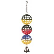 Jucarie 3 Globuri cu Clopotel 16 cm 5251