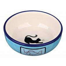 Castron Ceramica Pisica 0.35 l /13 cm 24658