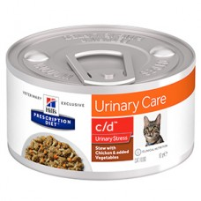 Hills PD Feline C/D Stress Chicken and Vegetable Stew 82 g