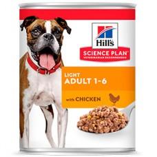 Hills SP Canine Adult Light Chicken 370 g (conserva)