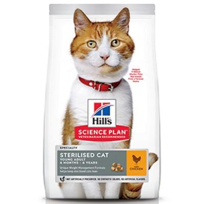 Hills SP Feline Young Adult Sterilised Chicken 3 kg