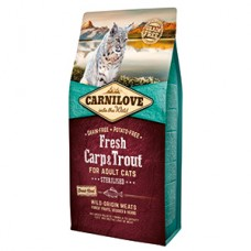 Carnilove Fresh Carp and Trout Sterilised for Adult Cats 6 kg
