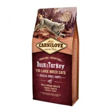 Carnilove Duck and Turkey Large Breed Cats 6 kg