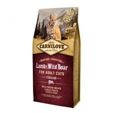 Carnilove Lamb and Wild Boar Cats Sterilised 6 kg