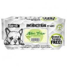 Antibacterial Pet WET Wipes, ALOE VERA- pachet 80 buc