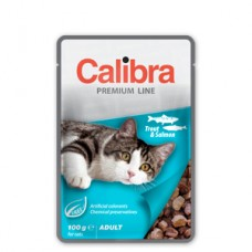 Calibra Cat Pouch Premium Adult Trout and Salmon 100 g