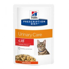 Hills PD Feline C/D Multi Stress Chicken 85 g (plic)