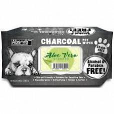 Charcoal Pet WET Wipes, ALOE VERA- pachet 80 buc