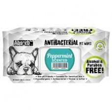 Antibacterial Pet WET Wipes, PEPPERMINT- pachet 80 buc