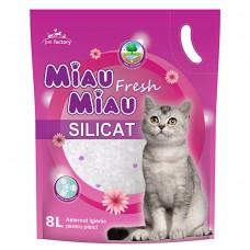 Nisip Pisici MIAU MIAU Fresh Silicat 8L