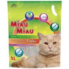 Nisip Pisici MIAU MIAU Tofu 5L