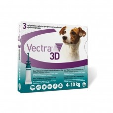 VECTRA 3D SPOT ON Talie mica (4-10 Kg)- 3 PIPETE