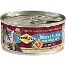 Carnilove Adult Cat Turkey and Salmon 100 g conserva